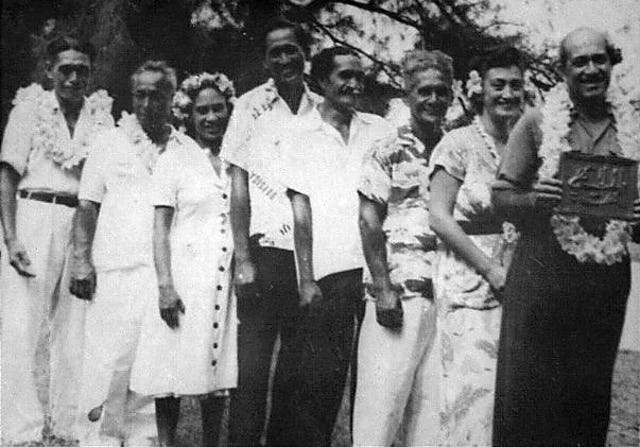 First Local Spiritual Assembly of the Baha'is of Rarotonga, 1956.
