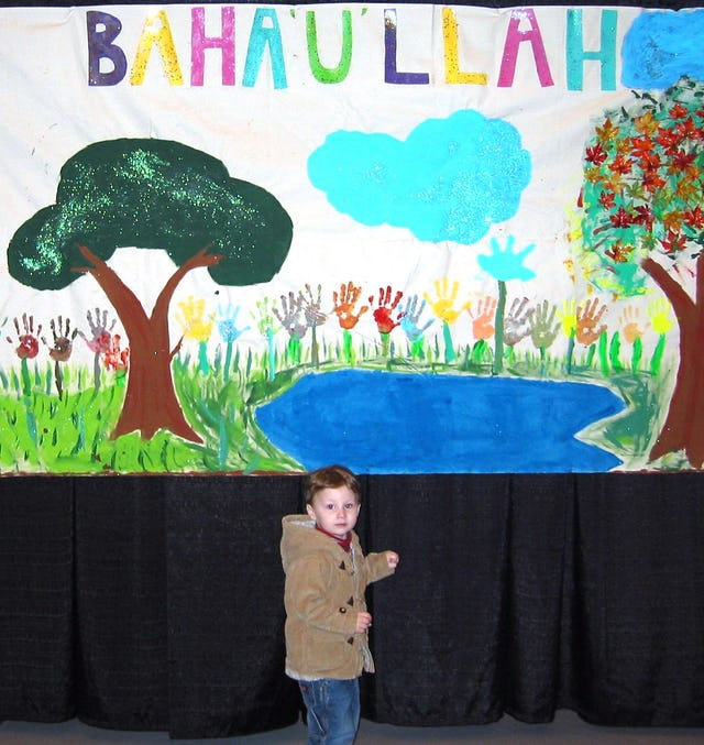 A banner by young artists...more than 400 children attended the conference.