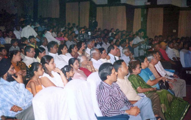 Some members of the audience at the unity concert.