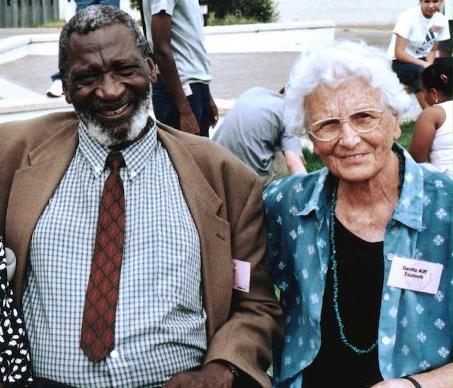 Hilifa Andreas Nekundi and Gerda Aiff at the jubilee celebrations in Namibia. Photo by Brigitte Aiff.