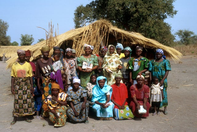 The women's group in Waltama has organized a literacy class, a by-product of APRODEPIT's process of community-based consultation.