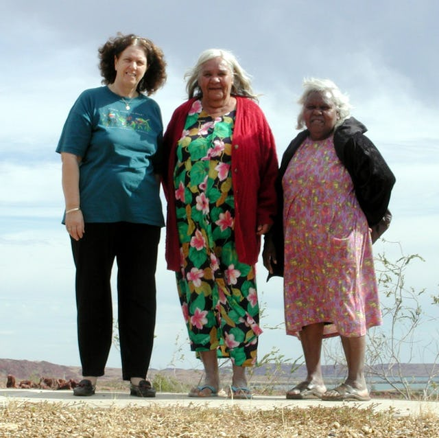 Among the hundreds of face-to-face study circles in Australia is an indigenous one in Western Australia. Pictured (left to right) are three of its members: Shona Earnest, Joyce Injie, and Tadgee Limerick.