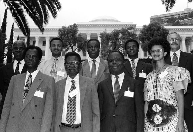 The National Spiritual Assembly of the Baha'is of Ghana at the Baha'i World Centre, Haifa, Israel, 1998.