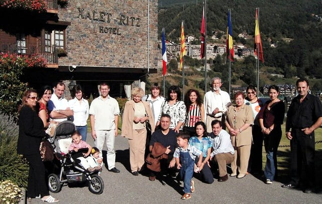 Some of the participants at the jubilee celebrations in Andorra.