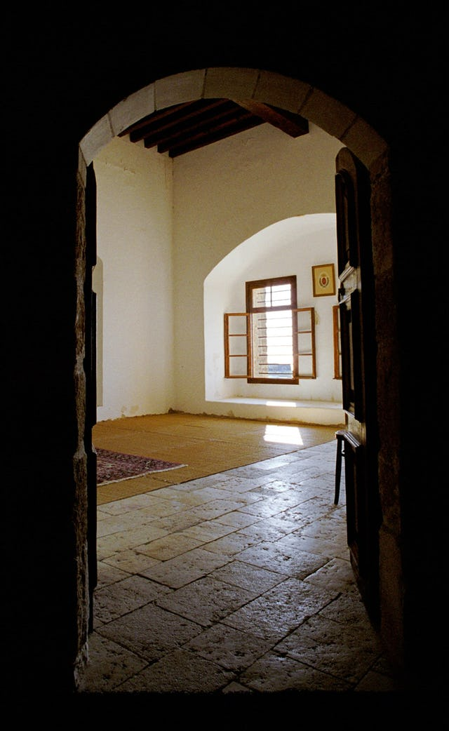 Entrance to the restored cell of Baha'u'llah. (2004)