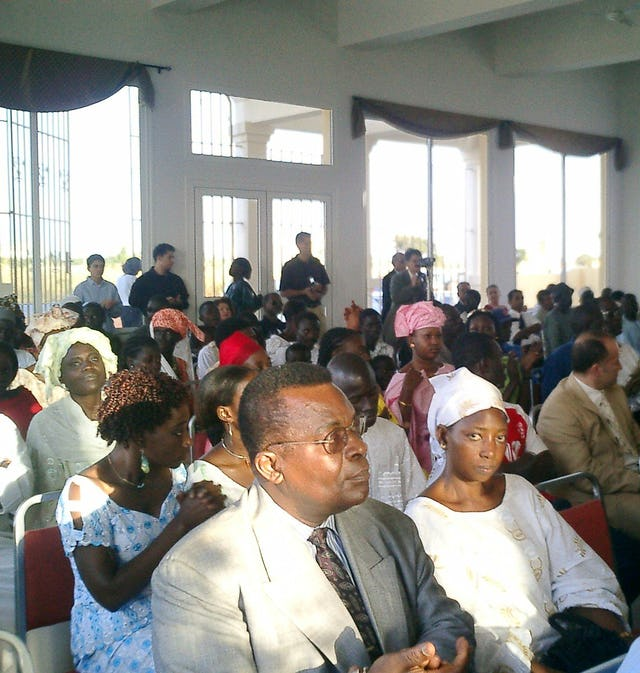 Some of the participants at the festivities in 2005 where the history of the Baha'i Faith in The Gambia was described.