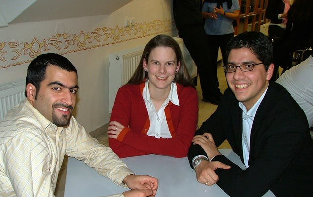 Some participants from Germany at the Changing Times seminar: (left to right) Shamim Rafat, Katharina Towfigh, Emanuel Towfigh.