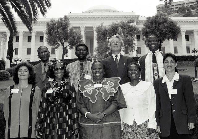 The National Spiritual Assembly of the Baha'is of Botswana at the Baha'i International Convention, Baha'i World Centre, Haifa, Israel, 1998.