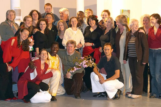 """""""Unity in diversity,"""" the topic addressed at the conference, was the theme of an event hosted earlier this year by the Baha'i community of Cork as its contribution to the """"European Capital of Culture 2005"""" program. People from 16 countries, some pictured here, attended the event, which included songs from the Dublin-based Townshend Baha'i choir, dramatic presentations, a salsa performance and lesson, traditional """"canciones"""" ballads from Mexico, rhythmic melodies of Uganda, and Irish poetry. A member of the """"Capital of Culture"""" organizing committee, Tom McCarthy, said the event captured the true spirit of the festival, uniting the hearts of the people who attended."""