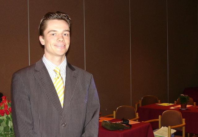 Joachim Monkelbaan at the European Baha'i Conference on Law.