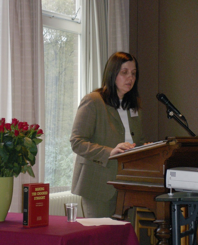 Dr. Nicola Towfigh at the European Baha'i Conference on Law.