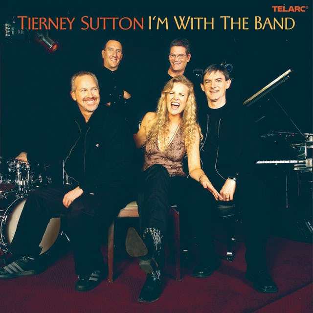 The cover to Tierney Sutton's Grammy nominated album, I'm With the Band.