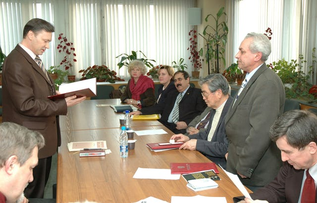 Congratulatory message from the National Spiritual Assembly of the Bahai's of Russia read to Dr. Seyfi