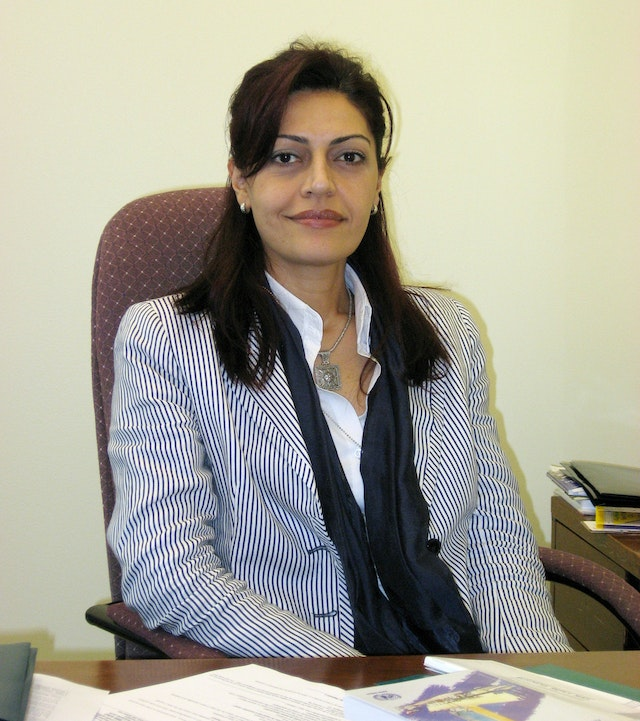 Fulya Vekiloglu, who joined the United Nations Office of the Baha'i International Community in New York as a representative to the United Nations in June 2006.