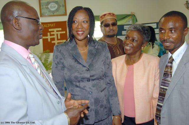 The mayor of Kingston with interfaith participants at the Baha'i Day Breakfast.
