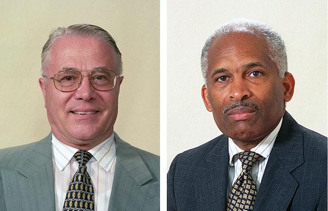 Mr. Hartmut Grossmann, left, and Mr. Glenford E. Mitchell.