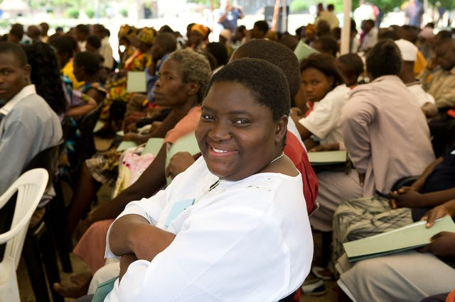 Sehla Masunda, a member of the National Spiritual Assembly of the Baha'is of Zimbabwe, was one of 80 Baha'is from her country to attend the conference in Lusaka.