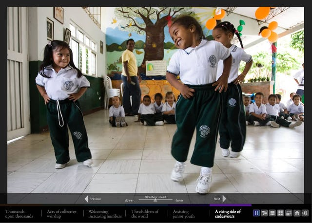 Photographs in the new Web presentation include this of children in Colombia. MORE PHOTOS »