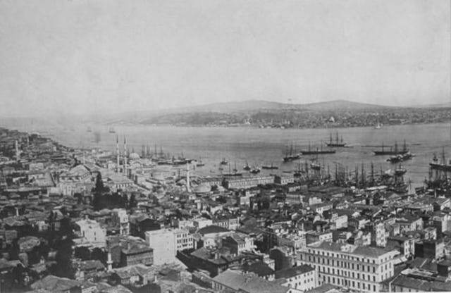 Photograph of Istanbul circa 1870. Baha'u'llah stayed in the city for about four months in 1863.