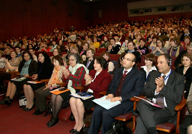 Baha'is from eight eastern European countries were among the 730 participants in Kiev.