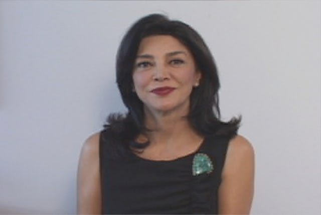 """Actress Shohreh Aghdashloo spoke by video to the gathering in Washington, saying she stands """"with many others around the world"""" in supporting the Iranian Baha'is."""