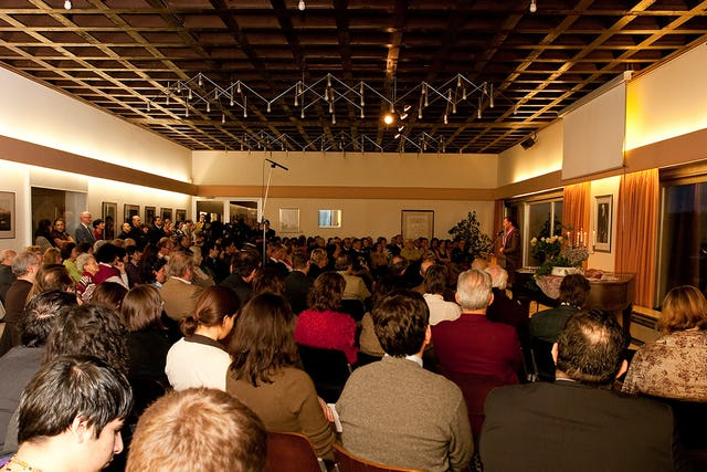 Over 200 people attended the Human Rights Day program at the Baha'i National Center in Germany on 6 December 2009. The building is near the European Baha'i House of Worship.