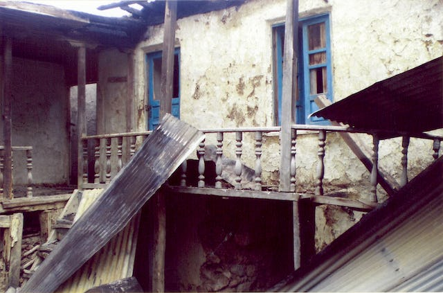 The home of Mr. Abdolbaghi Rouhani – a Baha'i from Ivel – after it was set on fire by unknown arsonists in May 2007.