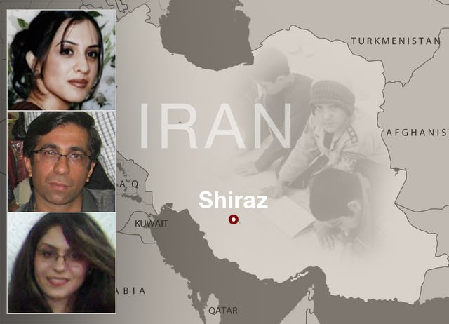 Haleh Rouhi, Sasan Taqva and Raha Sabet were taken into custody in Shiraz on 19 November 2007. They were sentenced to four years imprisonment for their participation in an education program for underprivileged children in and around the city.