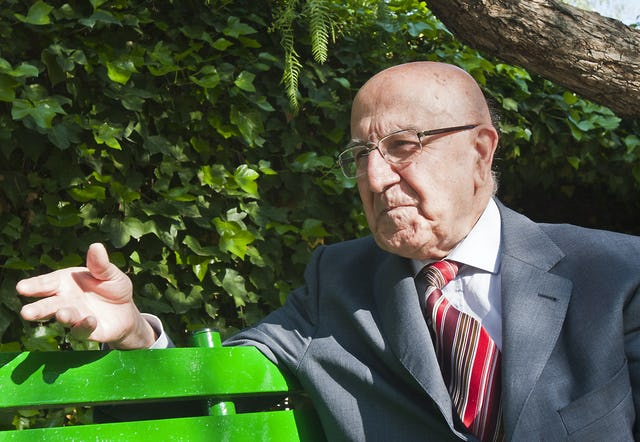 90-year old Rouhollah Mehrabkhani attended the 50th national convention of the Spanish Baha'i community, held in Llíria, Valencia, 29 April – 1 May 2011. Mr. Mehrabkhani arrived from Iran in the 1950s to help establish a Baha'i community in Spain. He was among the nine Baha'is elected to the first National Spiritual Assembly in 1962.