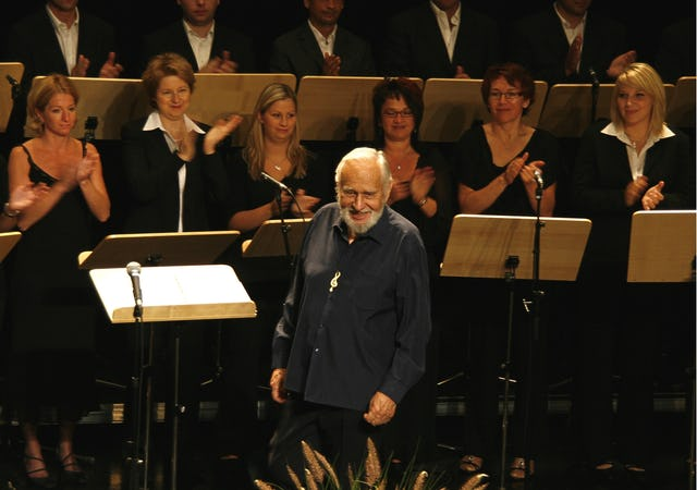 In 2008, at the age of 92, Russell Garcia embarked on a concert tour of Austria, which was reported by the Baha'i World News Service.