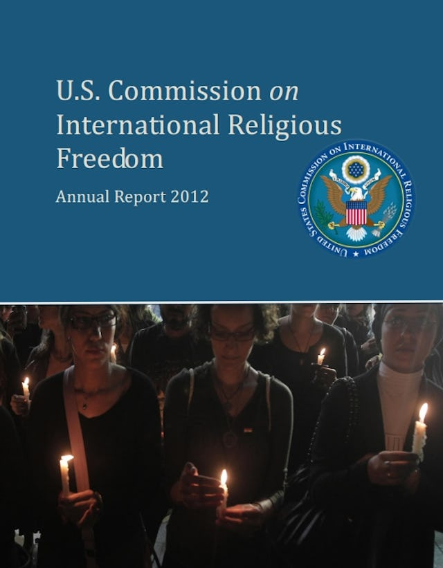 """The annual report of the US Commission on International Religious Freedom (USCIRF), published on 20 March. Established in 1998 by the US Congress, the USCIRF is charged with monitoring religious freedom around the world and recommending US policy responses to violators. The Commission has identified Iran and 15 other nations as """"countries of particular concern"""" for their poor record last year at promoting or protecting religious freedom."""