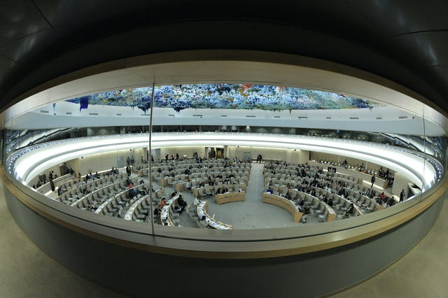 The Human Rights Council is an inter-governmental body within the United Nations system made up of 47 States responsible for the promotion and protection of all human rights around the globe. UN Photo/Jean-Marc Ferre.