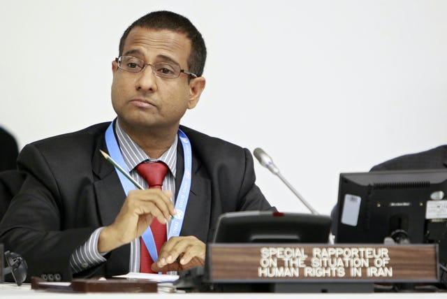 Ahmed Shaheed, the UN Special Rapporteur on the situation of human rights in Iran. A former foreign minister of the Maldives, Dr. Shaheed was appointed to his post in June 2011 after a period of some nine years during which no one had held that position. UN photo/Rick Bajornas.