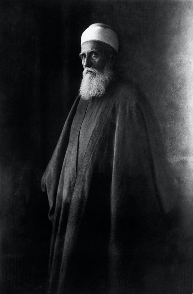 'Abdu'l-Baha (1844-1921), photographed in Paris during His historic travels 1910-1913.