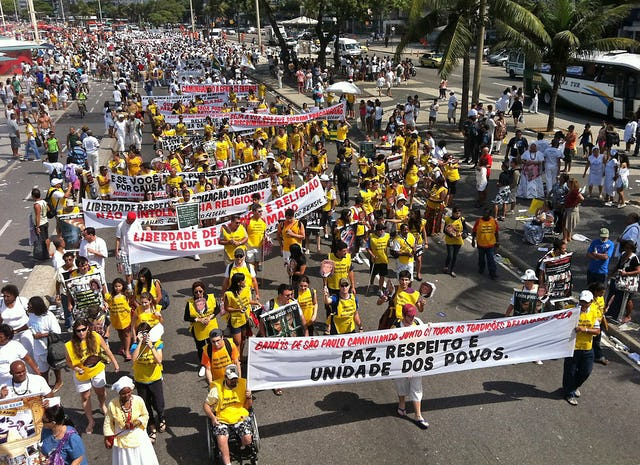 On 18 September 2011, tens of thousands of people marched through the streets of Rio de Janeiro in Brazil – an example of the activities taken by ordinary people around the world in defense of the Baha'is of Iran and the principle of religious freedom.