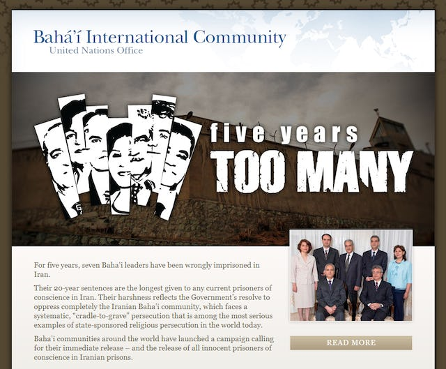 The Baha'i International Community's campaign calls for the release of the seven Baha'i leaders imprisoned in Iran.