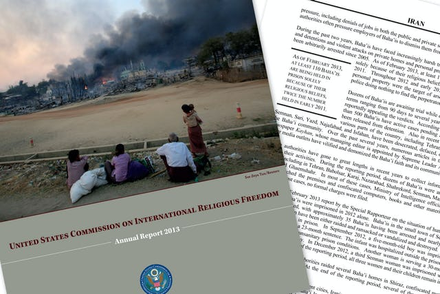 Recently the United States Commission on International Religious Freedom released its 2013 Annual Report, which highlighted human rights violations in a number of countries around the world.