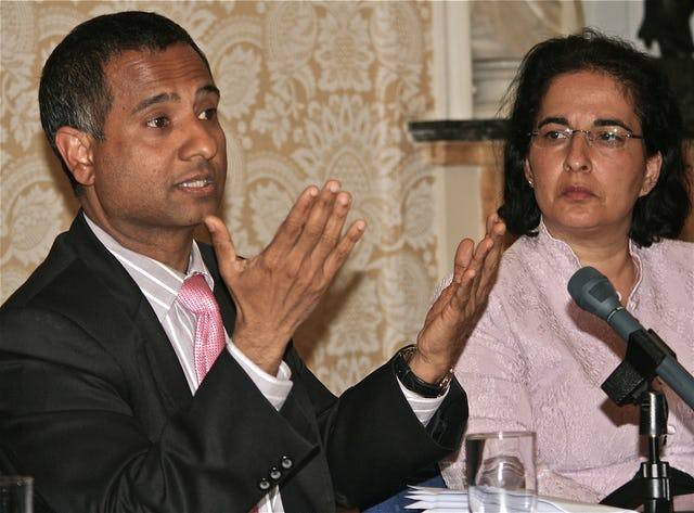 At a seminar in London on 9 May, Ahmed Shaheed, the United Nations Special Rapporteur on human rights in Iran, left, and Nazila Ghanea, a lecturer in international human rights law at the University of Oxford, were featured speakers.