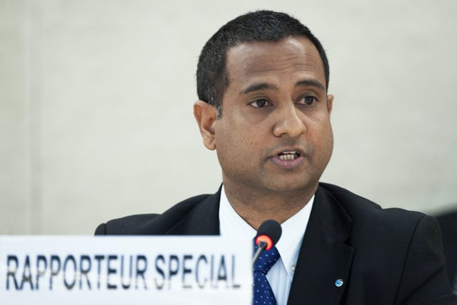 Ahmed Shaheed, the UN Special Rapporteur on human rights in Iran.