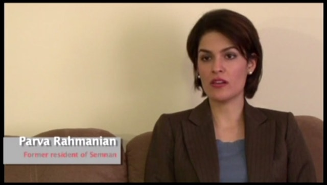 Parva Rahmanian, one of the people interviewed in the video.