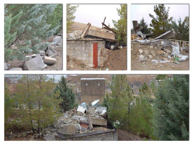Portions of Baha'i cemetery in Sanandaj, Iran, destroyed.