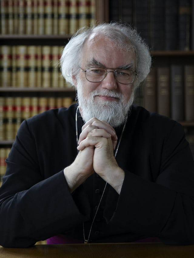 """Dr. Rowan Williams, former archbishop of Canterbury. As the archbishop of Canterbury, Dr. Williams was the most senior bishop of the worldwide Anglican Communion. He has called Ayatollah Tehrani's gift to the Baha'is an act of """"immense significance"""". (Photo courtesy of Magdalene College)"""