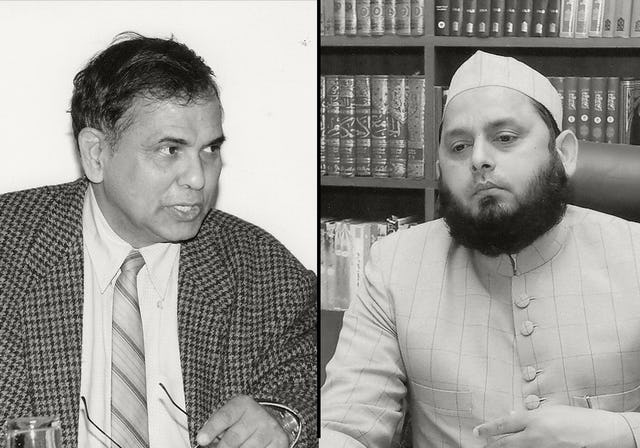 Dr. Amitabh Kundu (left), an internationally recognized author of more than 25 books on economics, development, and social science, and Maulana Khalid Rasheed Farangi Mahli (right), head of the Islamic Centre of India, are among the prominent leaders in India who have responded to the courageous action of Ayatollah Tehrani with statements of support and hope.