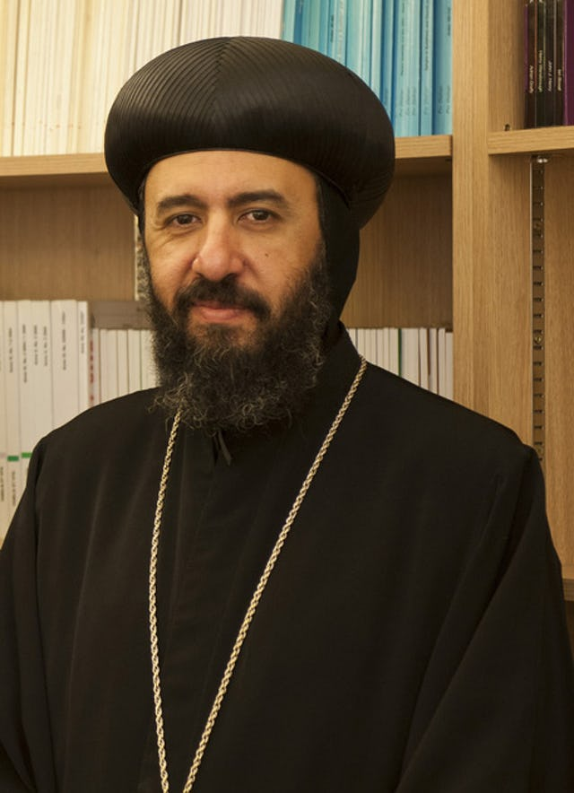 """Bishop Angaelos of the Coptic Orthodox Church in the UK. In his recent statement, Bishop Angaelos praises Ayatollah Tehrani's gesture, saying he prays that the promotion of tolerance and coexistence will """"become increasingly manifest not only in Iran but across the Middle East and the world."""""""
