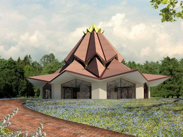 The design of the central edifice of the local Baha'i House of Worship was unveiled before an audience of some 500 people.