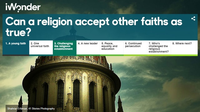 "The article ""Can a religion accept other faiths as true?"", recently published on the BBC's interactive educational website, iWonder, explores the central beliefs of the Baha'i Faith and provides a brief historical account of its origins and the vision of its founders."