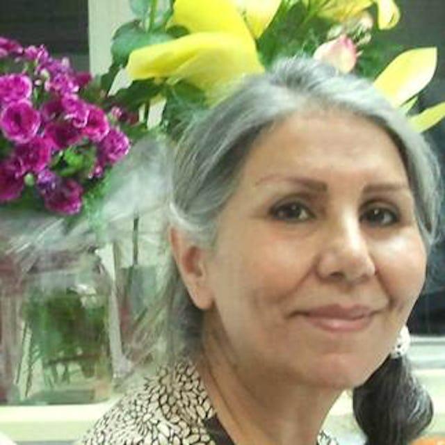 Una fotografía de Mahvash Sabet, profesora, educadora y una de los siete dirigentees bahá'ís iraníes que han estado encarcelados desde 2008 en Irán.