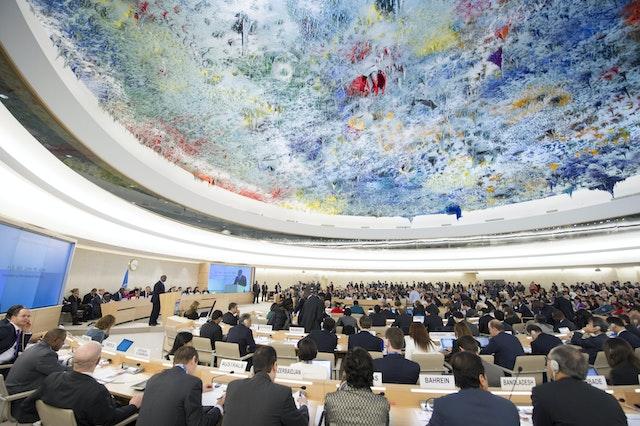 The UN Human Rights Council, where Iran's Universal Periodic Review outcome session took place. (UN Photo)