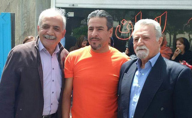 Mahmoud Badavam (left), Ramin Zibaie (center), and Farhad Sedghi (right)—three Bahá'ís involved with the Bahá'í Institute for Higher Education—were released from prison after completing their four-year sentence.