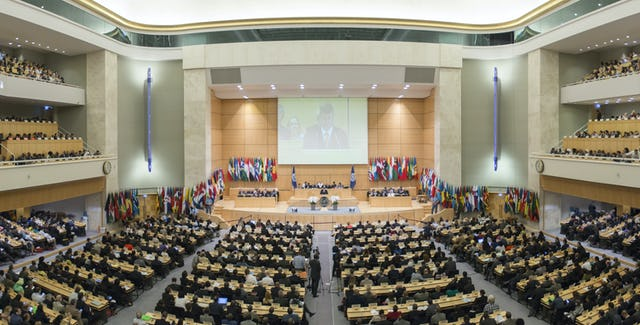 Opening Session of the 104th International Labour Conference, where the topic of discrimination in the workplace is a major concern. (Credits: Pouteau / Crozet —https://www.flickr.com/photos/ilopictures/ 17723189434/in/album-72157653410486208/)